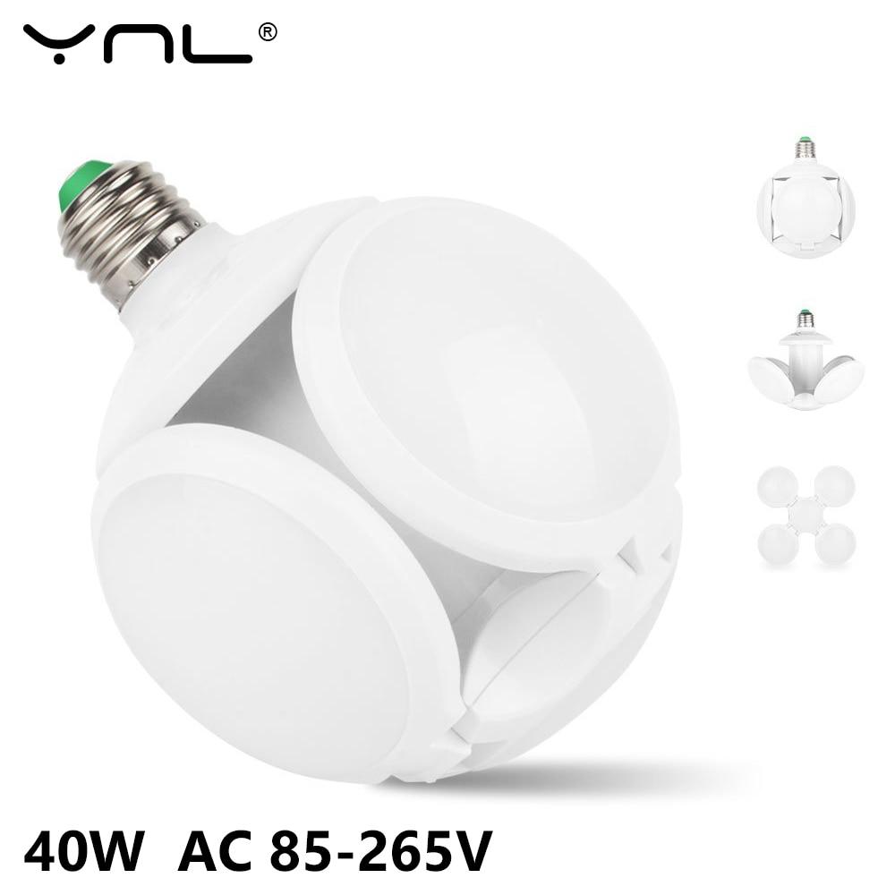 LED Lamp E27 LED Bulb 40W High Brightness Folding Bulb AC 85-265V Bombilla Lampada LED Light Bulb Football UFO Lamp Home Decor