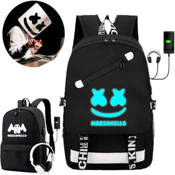 IMIDO Luminous DJ Man Backpacks for Students Back to School Bags Usb Charging Black Travel Shoulders Backpack for Boys Girls - DISCOUNT ITEM  48 OFF Luggage & Bags