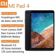 Планшет Xiaomi MI Pad 4, 8,0 дюйма, Android, Wi-Fi, LTE, 4 Гб + 64 ГБ, HD дисплей, 6000 мАч, MIUI 9,0, Snapdragon 660 Core 8, планшетный ПК