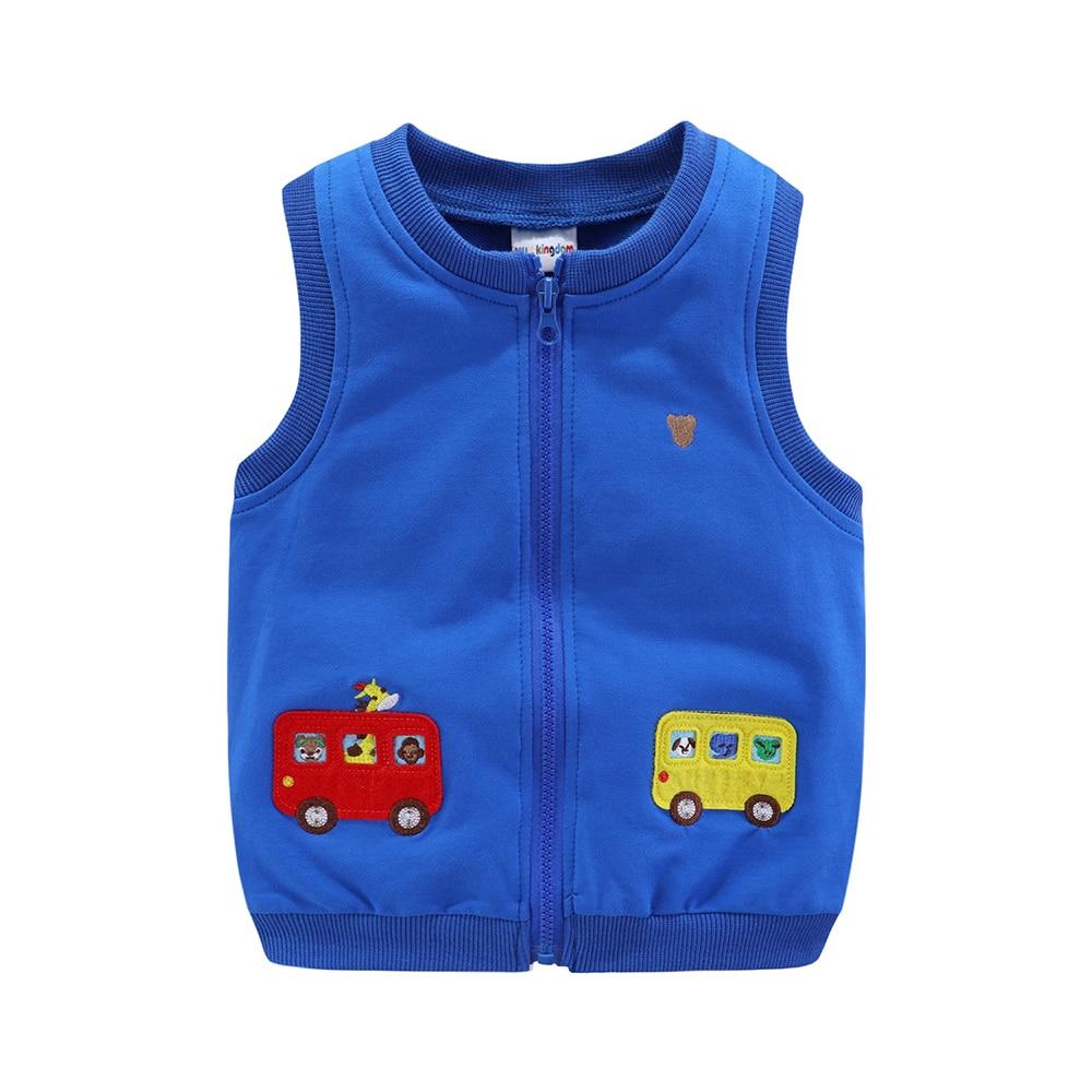Mudkingdom Boys Vests Kids Jackets Cartoon Car Zipper 2020 Spring Autumn Sleeveless Jackets for Kids 5