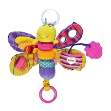 Baby Kids Rattle Toys Cartoon Animal Butterfly Plush Hand Be
