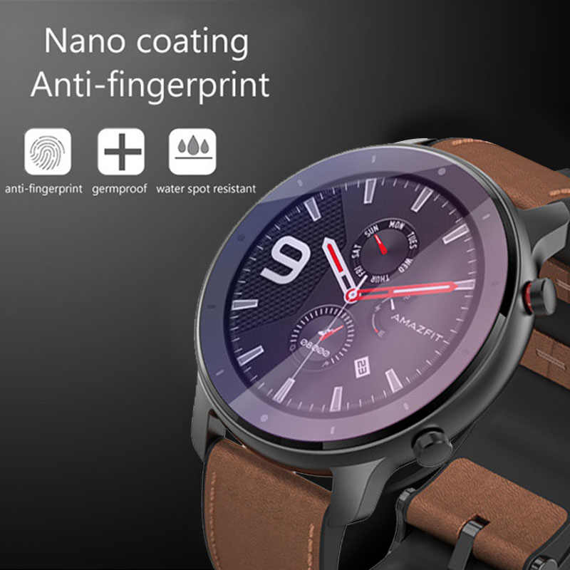 1PC Eye Care Purple Watch /Clear Film Tempered Glass Screen Protector for AMAZFIT GTR Smart Watch 42/47mm Screen Accessories
