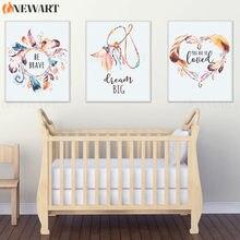 Arte Decorativo de pared para guardería de bebé, lienzo impreso grande de