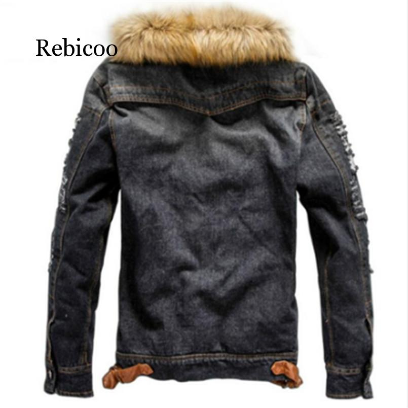 2019 new men 39 s jeans jacket and jacket denim thick warm winter jacket M 5XL in Jackets from Men 39 s Clothing