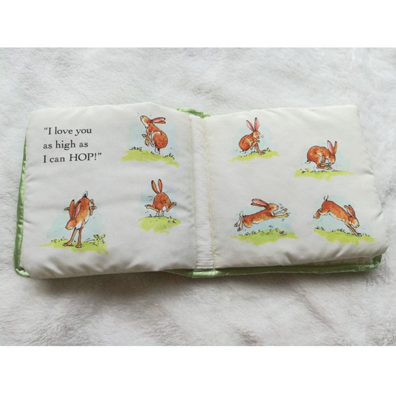 English Embroidery Rabbit Cloth Baby Early Education Kids Book Ring Paper Book Peter Rabbit Soft Thicken Scene Story Book Gift in Baby Rattles Mobiles from Toys Hobbies