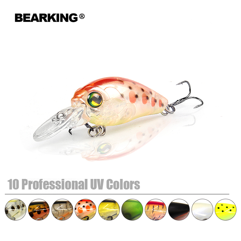 Retail 2017 good fishing lures minnow,quality professional baits 3.5cm/3.7g,bearking hot model crankbaits penceil bait popper