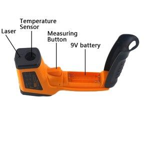 Image 5 - Инфракрасный термометр лазерный пирометр 400C 750C 950C Бесконтактный ЖК ИК термометр пистолет точечный измеритель температуры подсветка