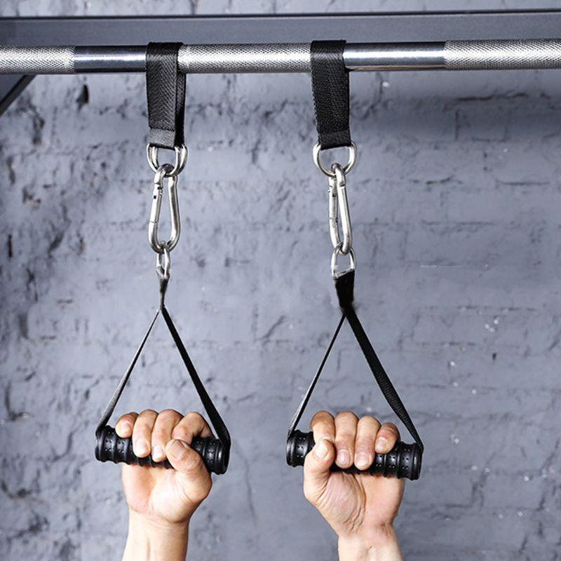 Heavy Duty Sling Straps Fitness Pull up Bar Hanging Leg Raiser with Steel D-Ring Training Workout Gym Equipment Straps Fitness