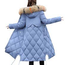 Winter Coat Jacket Women Parkas 2018 New Plus Size M~3XL Faux Fur Collar Cap Outerwear Chaquetas Mujer Woman Long Warm Coats цены онлайн