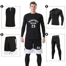 4PCS/Set Men Basketball Clothes Custom Basketball Jerseys Quick Dry Breathable Youth Basketball Uniforms Basketball Sportswear