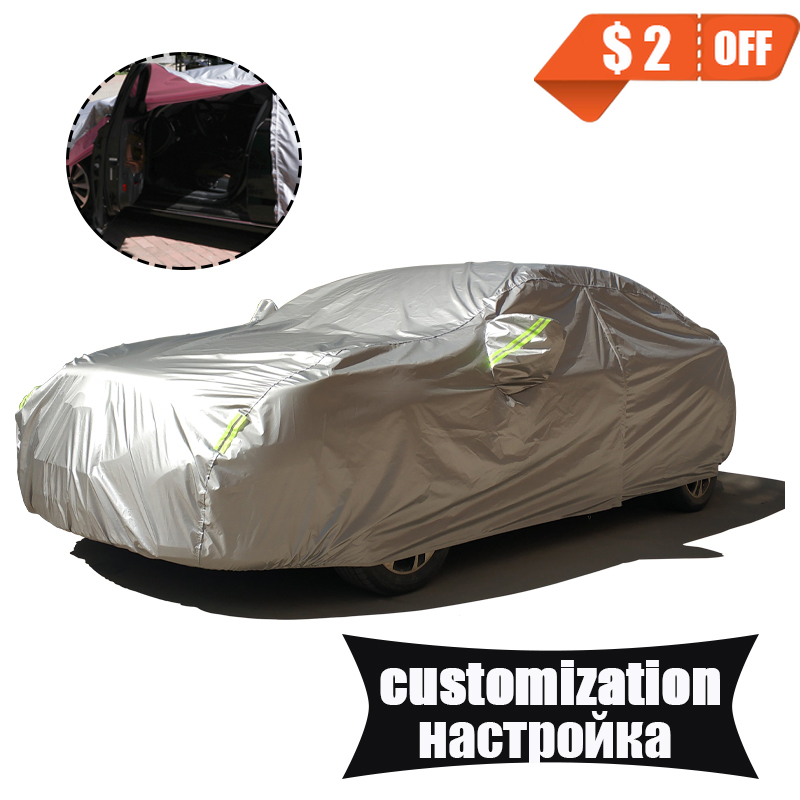 Customization Waterproof Car Covers 190T Polyester Universal For SUV Hatchback Sedan Cabriolet Coupe Station Wagon Crossover