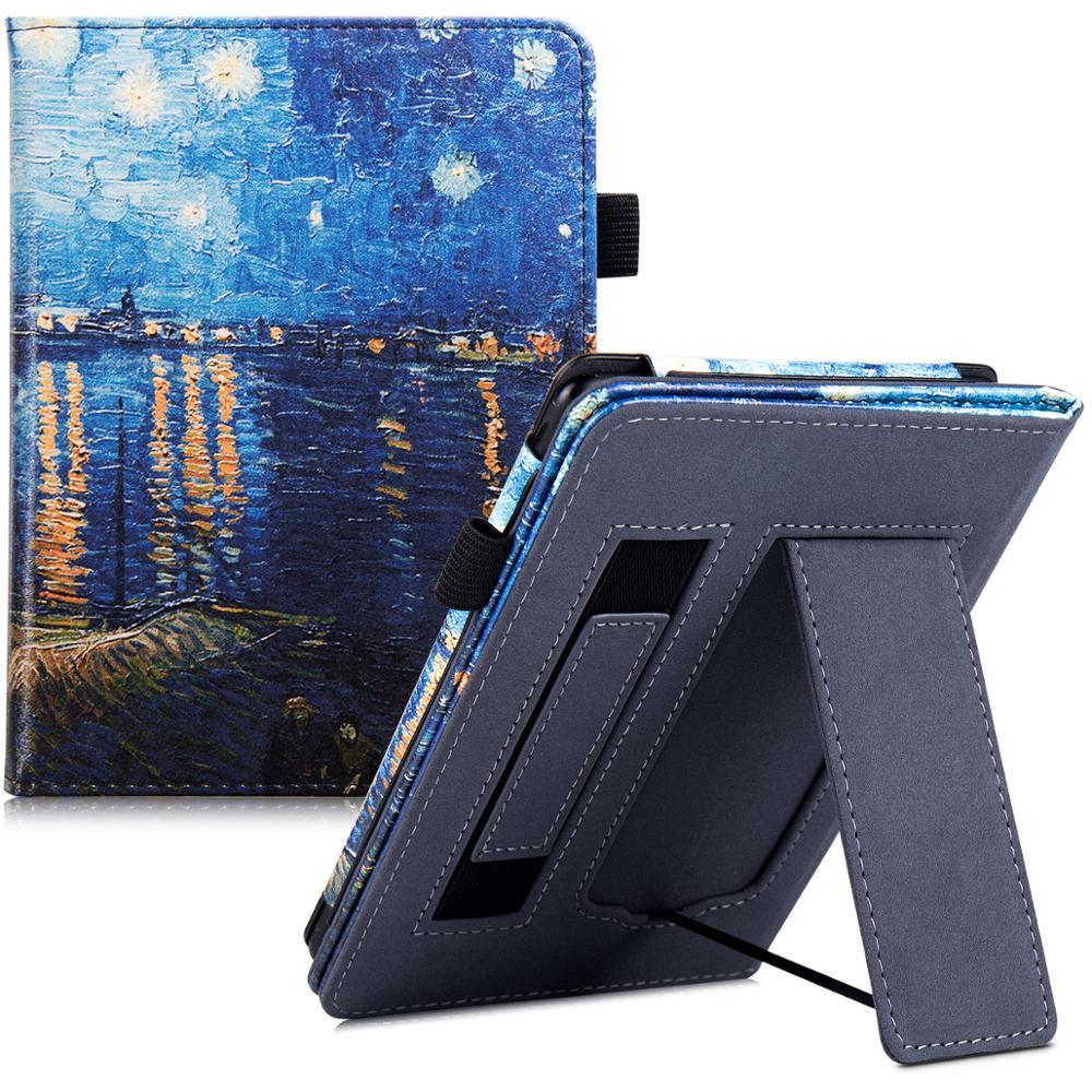 Чехол подставка AROITA для всех New Kobo Nia 2020 (модель N306) умный защитный чехол из искусственной кожи с ручным ремешком|Чехлы для планшетов и электронных книг| | АлиЭкспресс