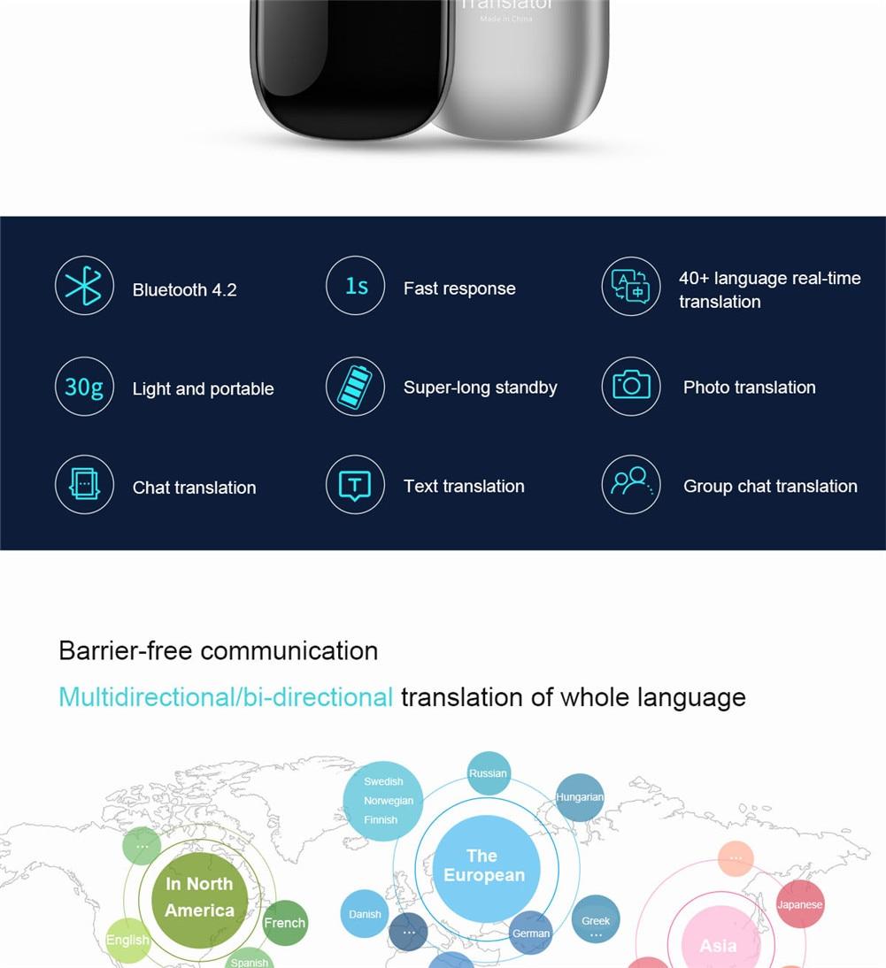 G5 Translaty Muama Enence 40 Languages Smart Translator Instant Voice  Photograph Real-time Interactive Voice Translator
