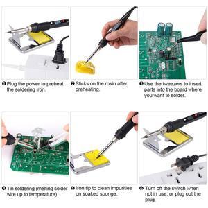Image 5 - JCD 80W LCD מלחם 220V 110V מתכוונן טמפרטורת ריתוך הלחמה תיקון כלי קרמיקה חום הלחמה ברזל טיפים ערכות