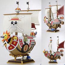 Figuras de acción de juguete de una pieza, 2 años más tarde, barco pirata mil SUNNY Going Merry Model Kit de modelismo 28 CM, barco de una pieza, juguete de regalo