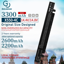 3300 мА/ч, 14,8 v Батарея для Asus X450 X550 X550C A41-X550 A41-X550A X550A A450LA P450LC R510EA P450CA F550VC F552C A450V X550L