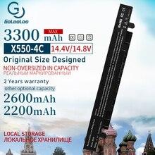 3300mah 14.8v pil için Asus X450 X550 X550C A41 X550 A41 X550A X550A A450LA P450LC R510EA P450CA F550VC F552C A450V x550L