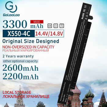 3300mah 14.8v pil için Asus X450 X550 X550C A41-X550 A41-X550A X550A A450LA P450LC R510EA P450CA F550VC F552C A450V x550L