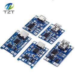 Модуль зарядного устройства TZT type-c/Micro USB 5 в 1 а 18650 TP4056, зарядная плата с защитой, две функции, 1 а li-ion