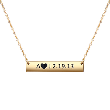 YSH new Personalized 925 Sterling Silver Custom Jewelry Necklace engraving Name DIY fashion Pendant Valentine Day Gifts