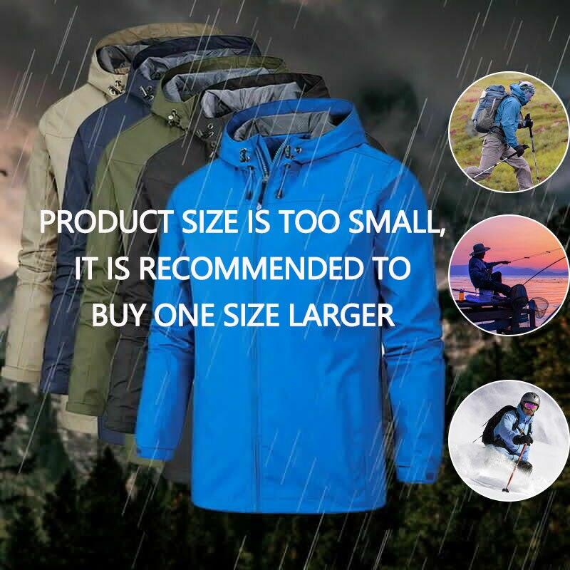 Outdoor Winter Jacket Men's Autumn Thin Softshell Waterproof Jacket Sports Windbreaker Windproof Breathable Rain Jacket Fleece фото