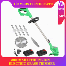 Brush-Cutter-Kit Grass-Trimmer Cordless Electric Mower Garden-Tools Edger-Lawn Weed 3000mah