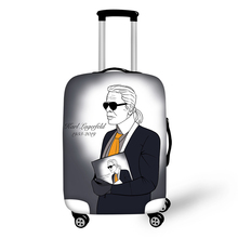 FORUDESIGNS Fashion Travel Luggage Protective Cover Karl Lagerfelds Prints Waterproof Suitcase Dust-proof