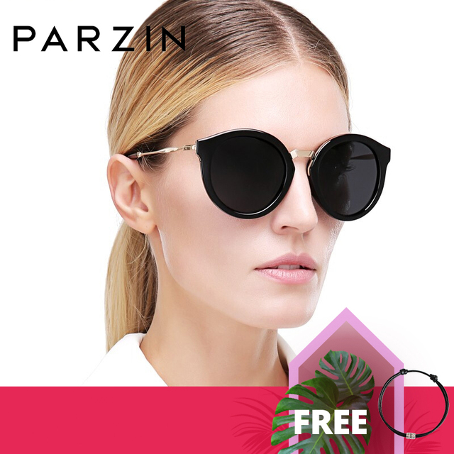 PARZIN Luxury Brand Retro Round Women Sunglasses High Quality Polarized Ladies Sun Glasses For Driving