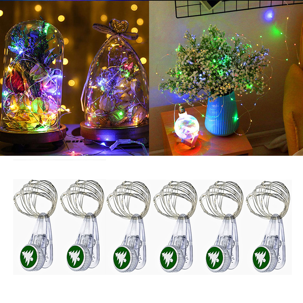 10Pcs/lot Photo Clips Light 1M 2M Christmas Garland Copper Wire LED String Lights For New Year Xmas Wedding Party Decoration