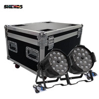 2/4/6/8pcs With Flight Case For 18x18W RGBWA+UV 6in1 LED Par Light Outdoor Zoom Par Light For Birthday Party Dj Disco Clubs