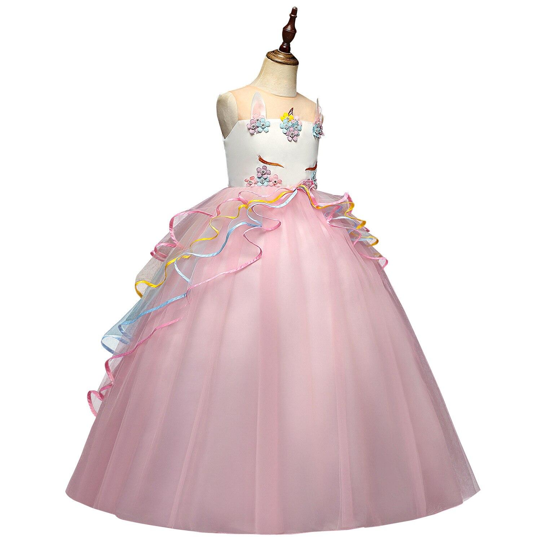2019 Big Boy Long Formal Dress Colorful Gauze Cake Tutu Unicorn Princess Dress Holiday Performance Formal Dress