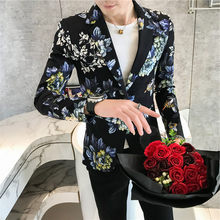 2020 Fancy Floral Blazer Mens Suits Costume Homme Taille Ternos Masculinos Slim Fit Vintage Flowers Printed Blazers Men 3XL(China)