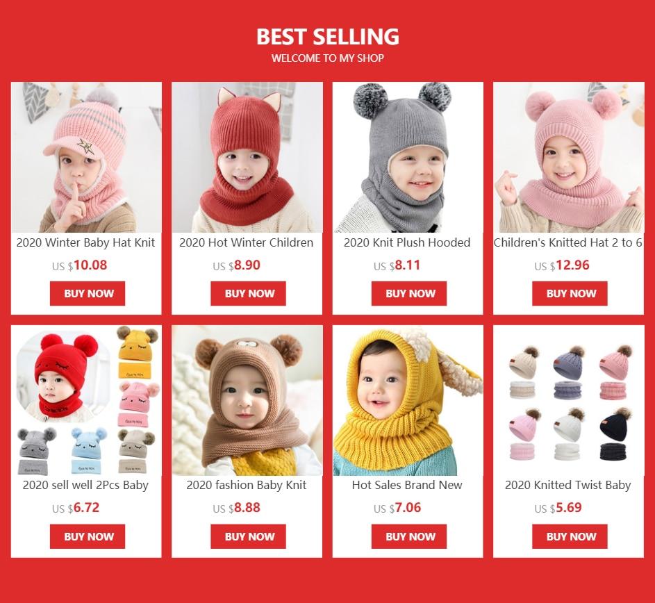Зимняя детская шапка 2020 вязаная Шапка бини для девочек и мальчиков
