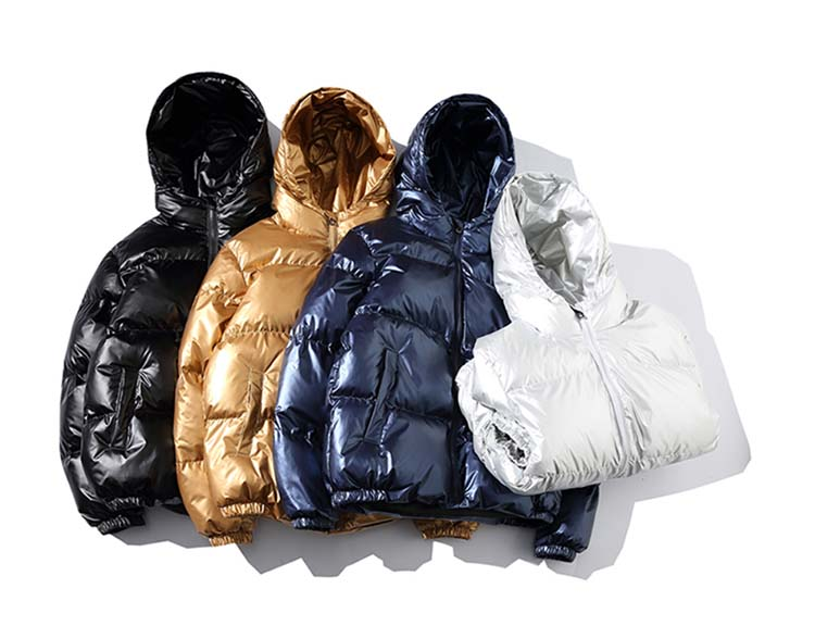 H9edc95ac9116492f87a59b1bd4da7c59I - Winter Men Jacket Thick Warm Parka Jackets Silver Bright Glossy Bread Coat Fashion Young Loose Hooded Cotton Jacket Outwear Male