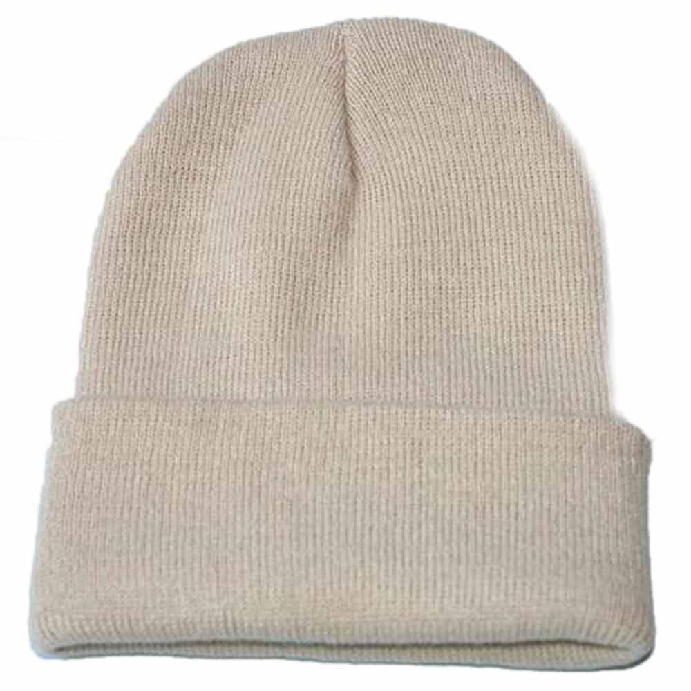 Осенне-зимняя одежда из шерсти смеси мягкий теплый вязаный Кепки Повседневное Chapeau унисекс сапоги высотой выше колена Вязание шапка в стиле хип-хоп кепка, теплая зимняя Лыжная шапка# Y5 - Цвет: Хаки
