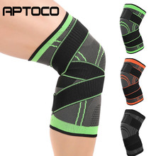 цена на 1PC Men Knee Protector Sports Knee Pad Breathable Bandage Knee Brace Basketball Tennis Volleyball Cycling Knee Brace Support