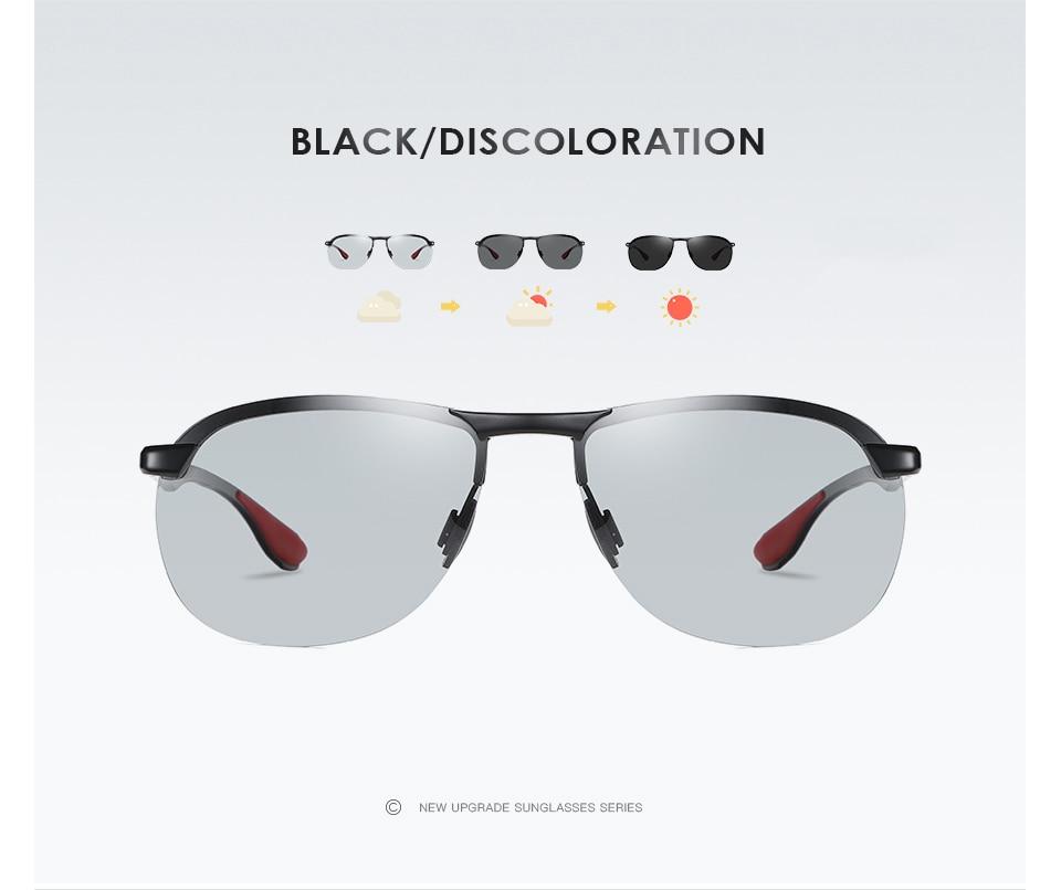 H9edcba255c4040af97c8f958aa44a0321 2020 Brand Photochromic Men Sunglasses Polarized Glasses Day Night Vision Driving Sun Glasses For Male Oculos De Sol Masculino