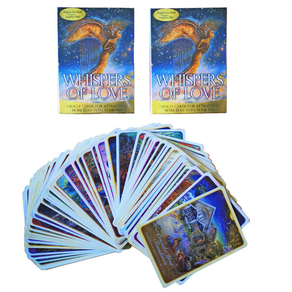 50pcs New Original English Tarot Whisper Of Love Oracle Card Deck Tarot Card Game Toy Games For Party Personal Entertainmen