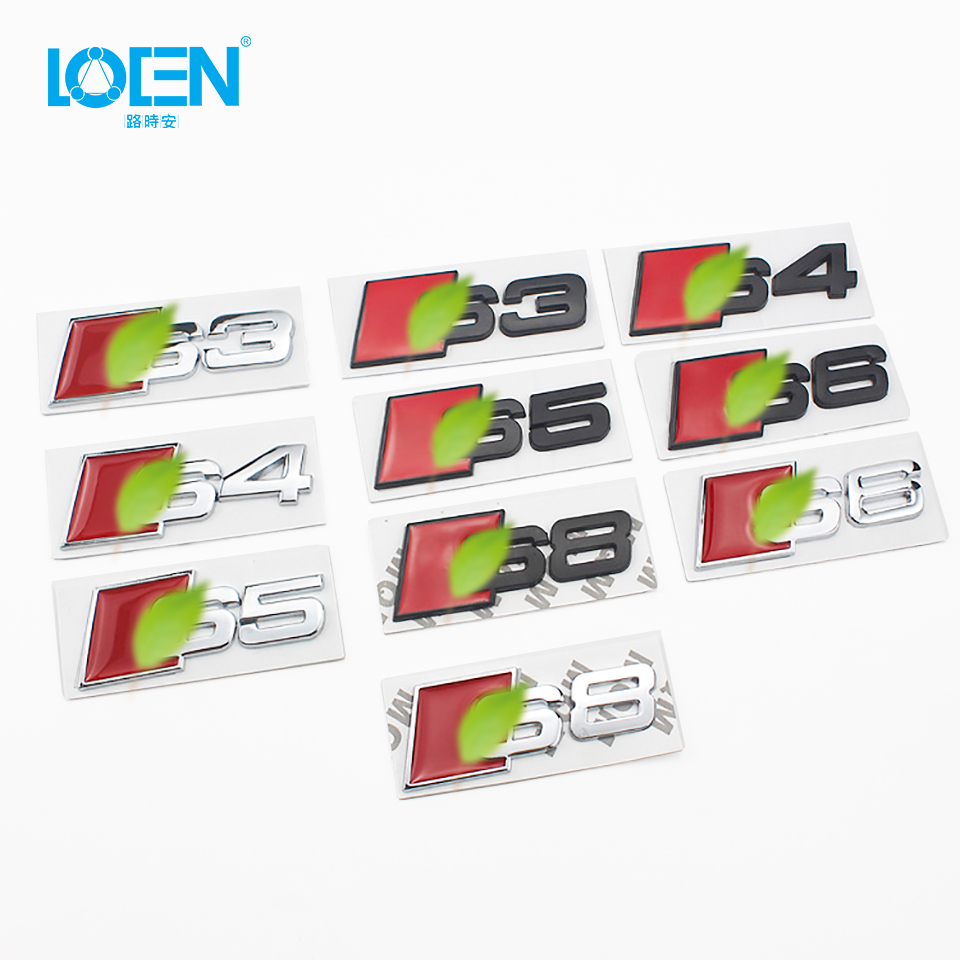 LOEN New 2019 Special Modified Car Standard Car Tail Logo High Precision Metal Car Logo For Audi S3/S4/S5/S6/S8