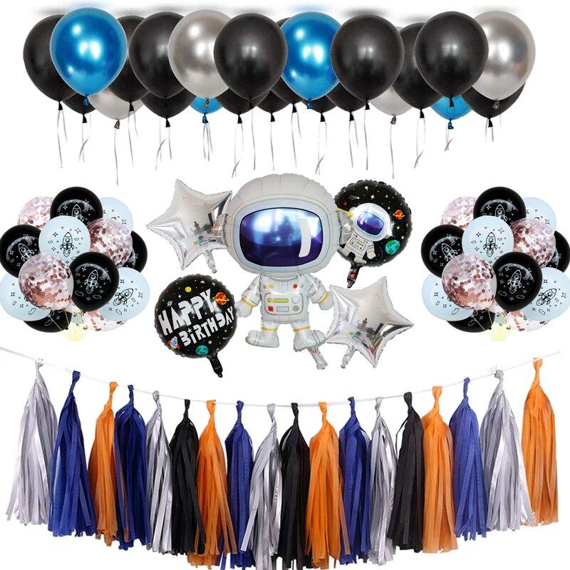 Товары для вечеринки на день рождения в космическом пространстве солнечная система подвесные украшения завитки из фольги гирлянды с кисто...