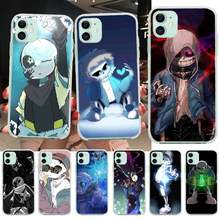 NBDRUICAI undertale papyrus sans doggo lovely Soft black Phone Case for iPhone 11 pro XS MAX 8 7 6 6S Plus X 5S SE XR cover(China)