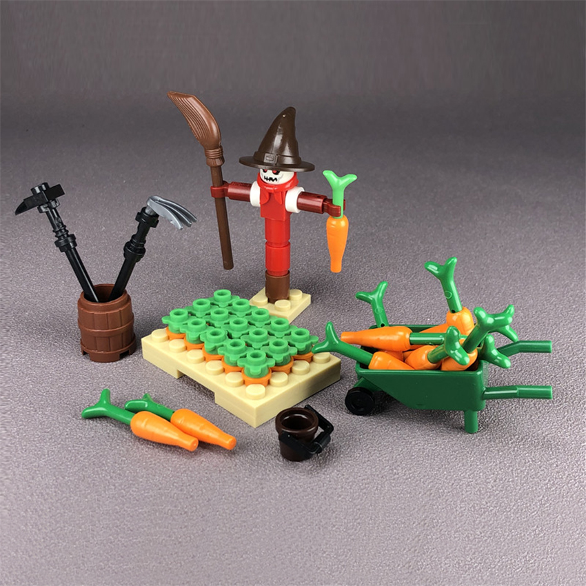 Single Legoings Farm Building Block Scarecrow Halloween Scene MOC Accessories Brick Children DIY Kit Toy Gift (1)