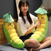 Cute lotus caterpillar plush toy suffted soft cuddly carpenterworm doll lovely christmas gift for kids kawaii children present