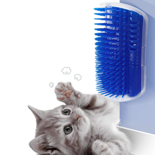 Cat Self Groomer Cat Grooming Brush Pet Scratcher Wall Corner Groomers Cat Massage Combs Softer Massager Toy for Kitten Puppy