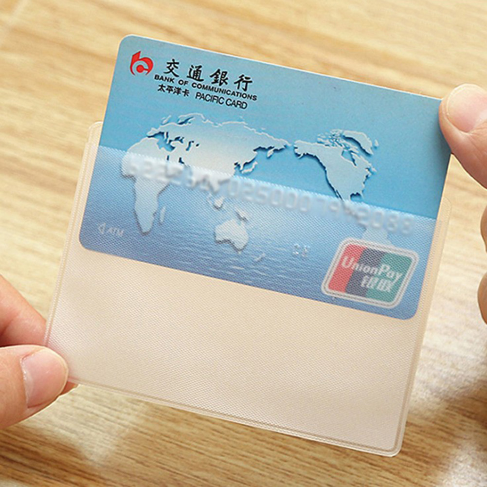 Waterproof Transparent PVC Card Cover Scrub Cardholder Case To Protect Credit Cards Porte Carte Bank ID Card Sleeve Unisex