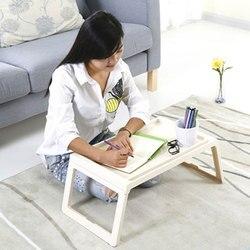 Nowy projekt laptop stół składany akademik leniwy stolik do nauki wielofunkcyjne łóżko składany stół| |   -