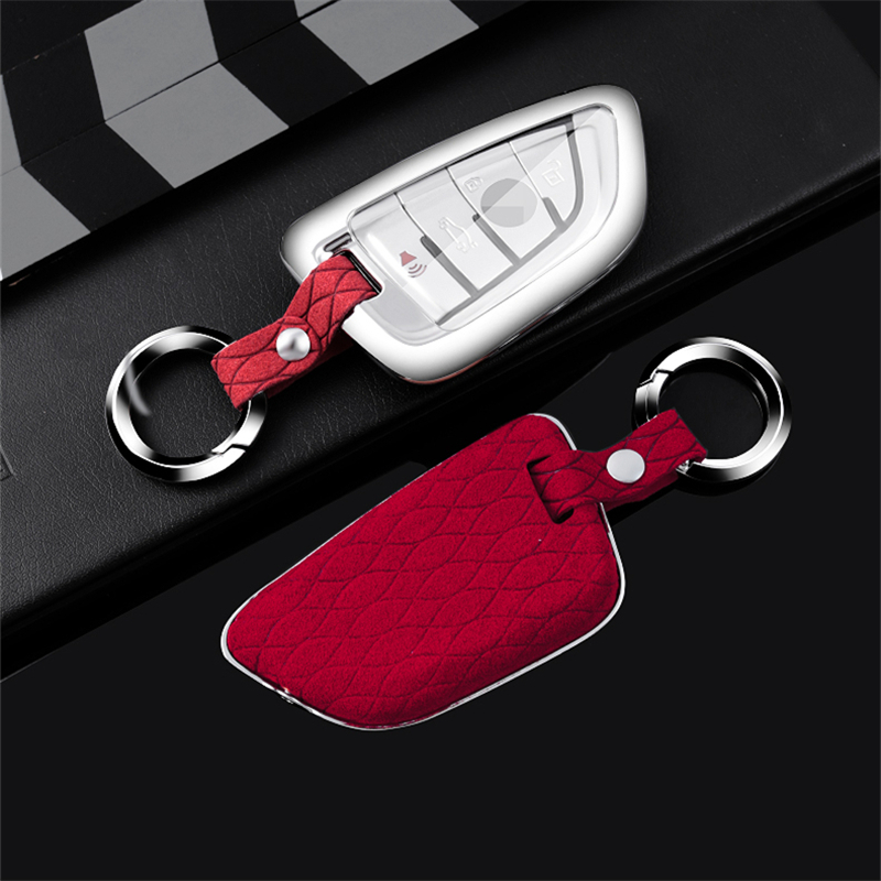 Zamszowe obudowa kluczyka do samochodu pokrowiec na bmw 520 525 1-7 serii X1 X3 X4 X5 X6 F30 F34 F10 F07 F20 G30 F15 F16 F18 118i 320i M3 M4M5