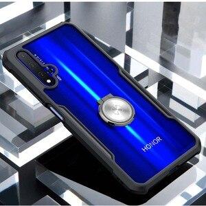 Image 2 - Funda de anillo Xundd para Huawei nova 5t, Airbags de lujo, a prueba de golpes, funda transparente para Honor 20 Pro