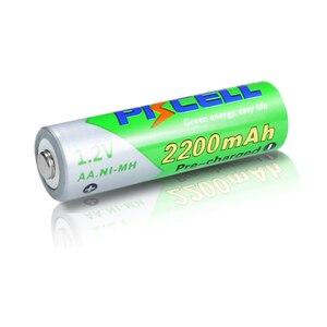 Image 3 - 8 個のx pkcell aa低自己放電バッテリーニッケル水素 1.2 v 2200 バッテリー単三充電式バッテリー 2 個バッテリー保持ケースボックス