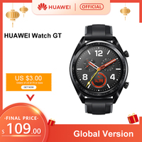 In Stock Global Verison HUAWEI Watch GT Smart WatchGT 5ATM Waterproof 14 Days Battery Life Heart Rate Tracker For Android iOS